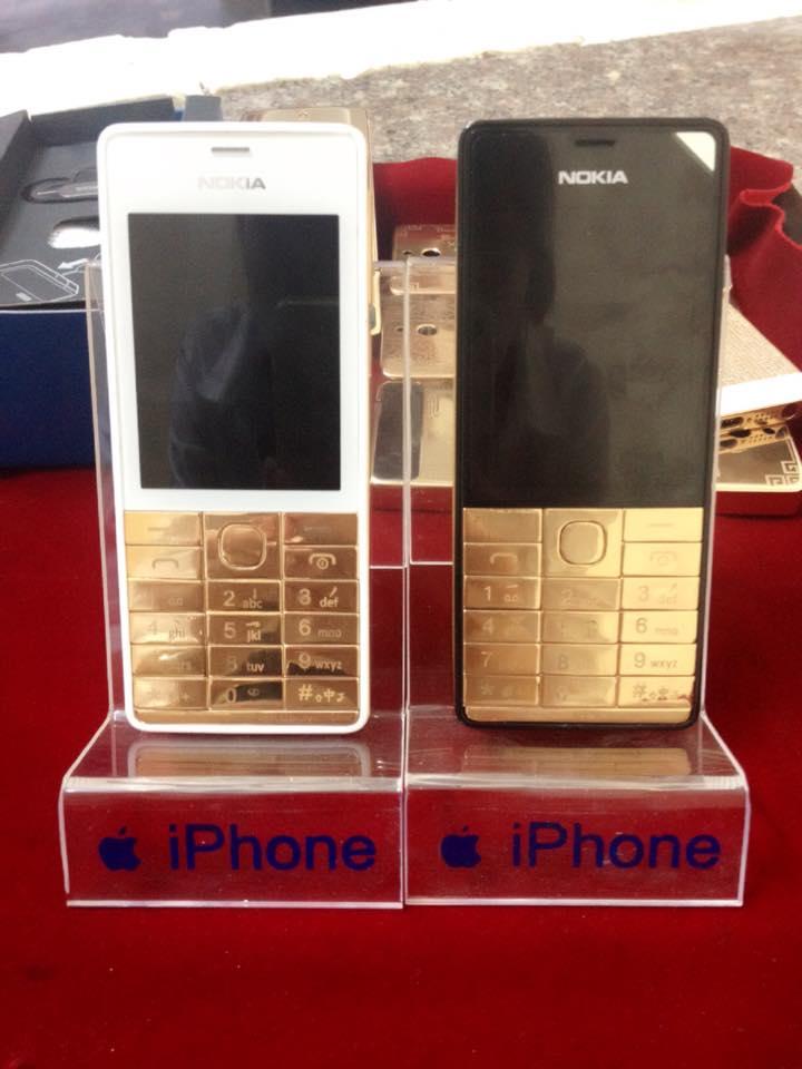 điện thoại Nokia mạ vàng