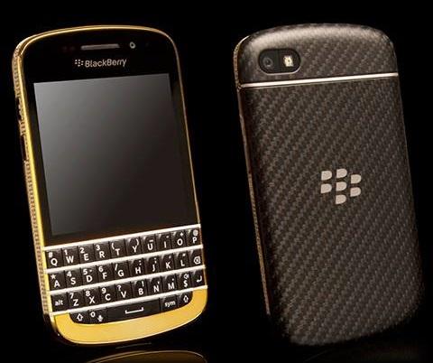 BlackBerry Q10 mạ vàng