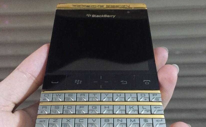 Blackberry Porsche Design P'9981 mạ vàng