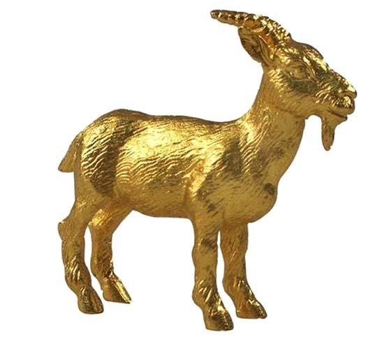 tượng dê phong thủy dát vàng