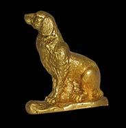 tượng phong thủy tuổi tuất mạ vàng