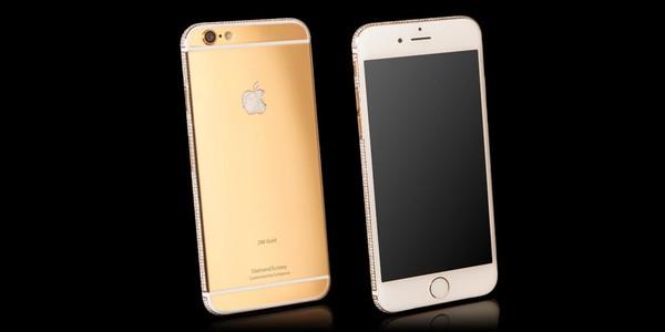mặt trước sau iphone mạ vàng