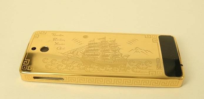 Nokia 515 mạ vàng khắc thuận buồm xuôi gió- Vina Gold Art