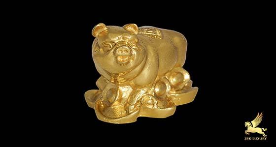 mạ vàng tượng heo phong thủy