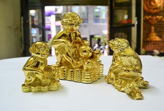 Qùa tặng mạ vàng- Tượng khỉ mạ vàng