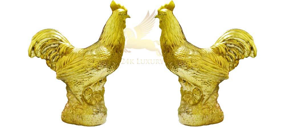 Mạ vàng tượng gà độc đáo tại Vina Gold Art