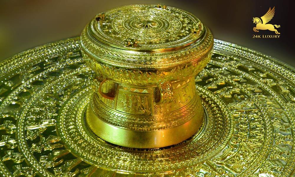 Mạ vàng trên chất liệu đồng tại Vina Gold Art