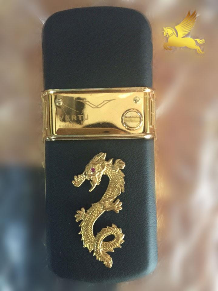 Vertu mạ vàng 24k gắn rồng mạ vàng