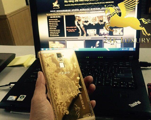Điện thoại Oppo R7 Plus mạ vàng 24k độc đáo