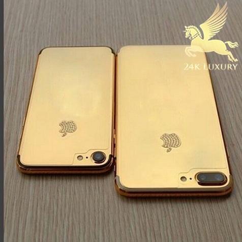 Bộ đôi iphone 7/7 Plus mạ vàng 24k