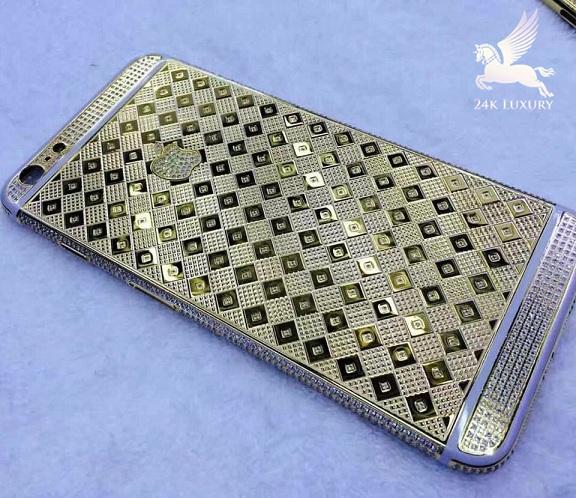 iphone 7 mạ vàng đính đá cao cấp