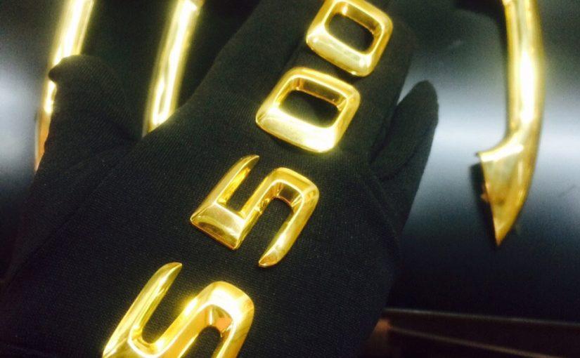 Mạ vàng bộ chữ S500