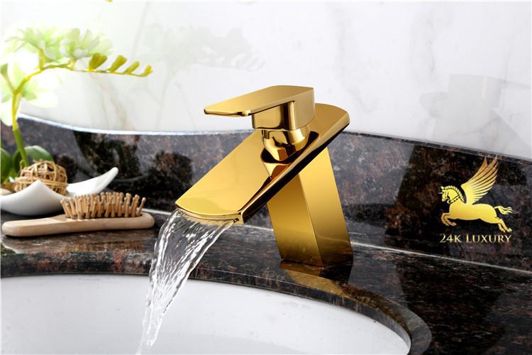 Chậu rửa mặt mạ vàng 24k tại Vina Gold Art