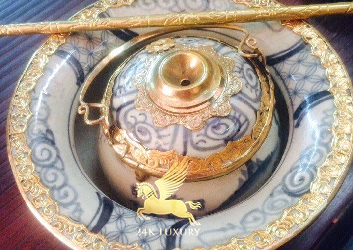 Điếu bát mạ vàng tại Vina Gold Art