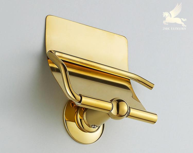 Lô giấy vệ sinh mạ vàng 24k
