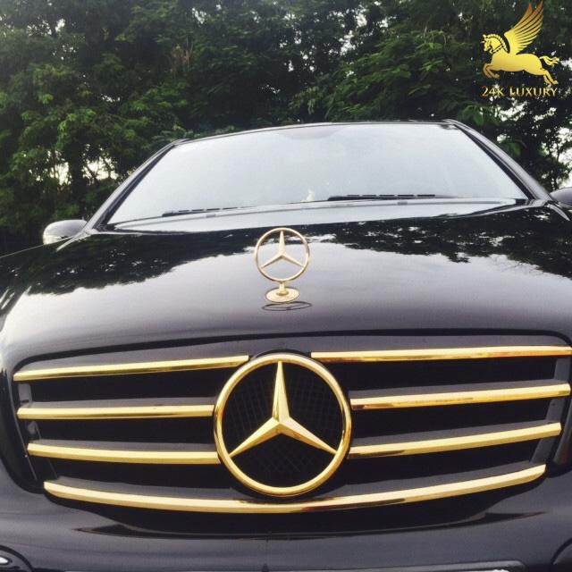 Mạ vàng ca lăng ô tô Mercedes