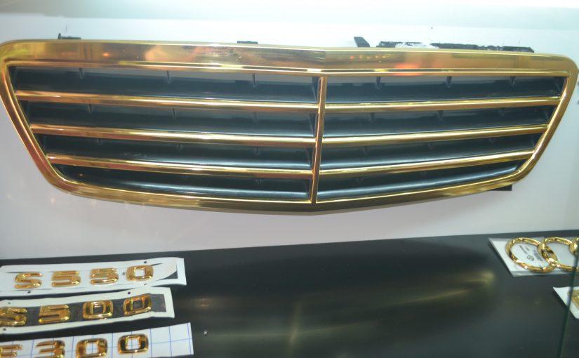 Mạ vàng ca lăng ô tô Mercedes theo xu hướng cổ điển hoàn gia