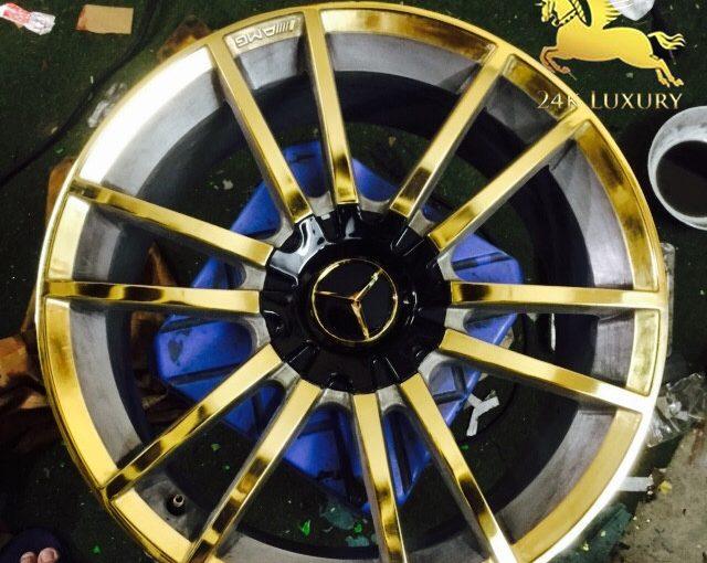 Vành ô tô Mercedes mạ vàng