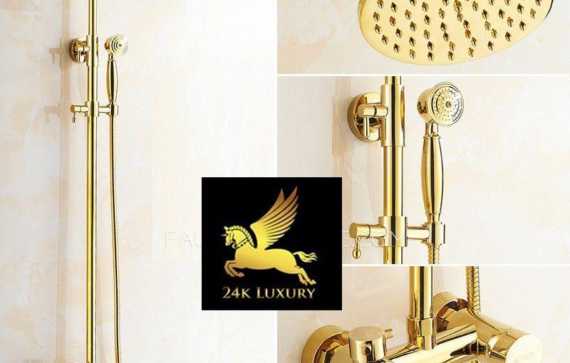 Vòi tắm mạ vàng hoàn thiện tại Vina Gold Art