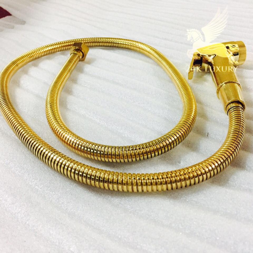 Vòi xịt mạ vàng tại Vina Gold Art