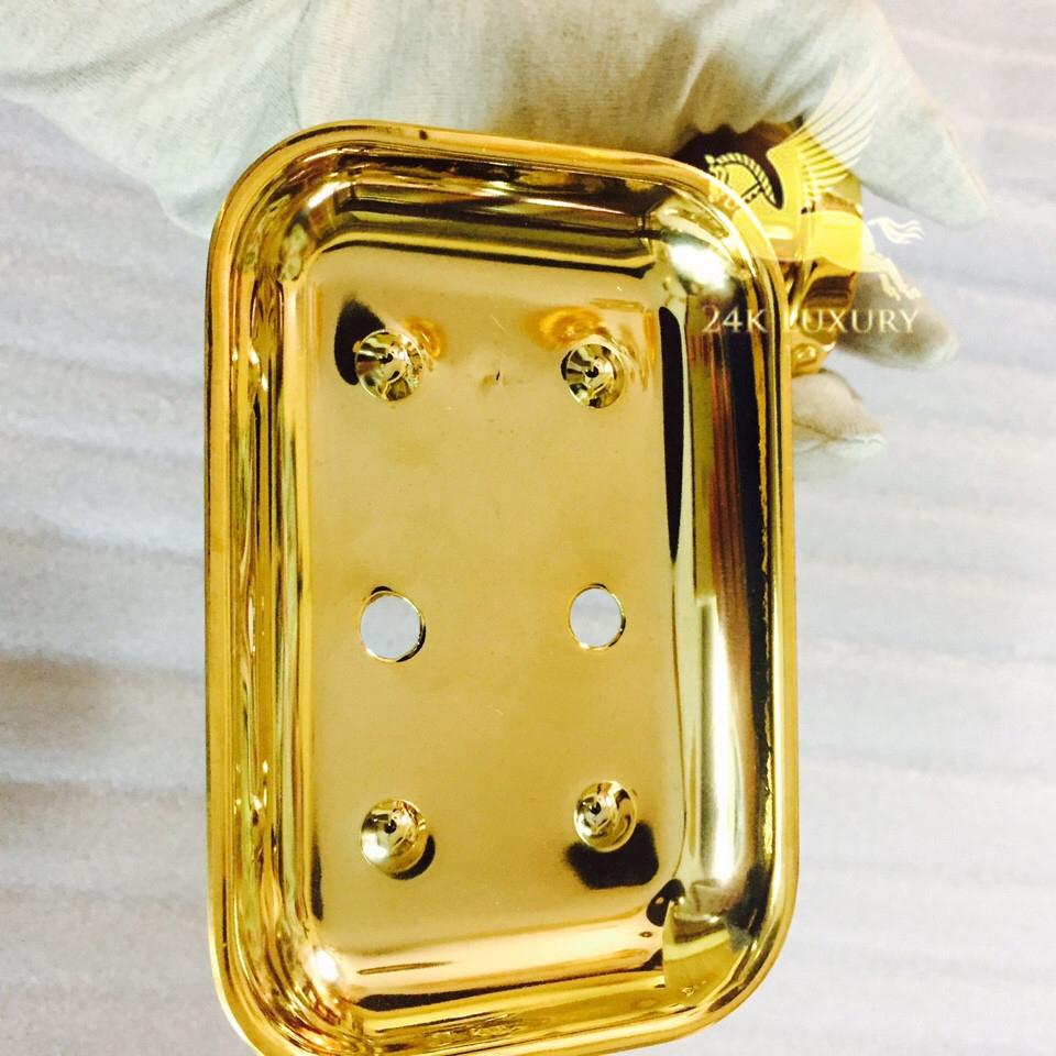Kệ đựng xà phòng mạ vàng
