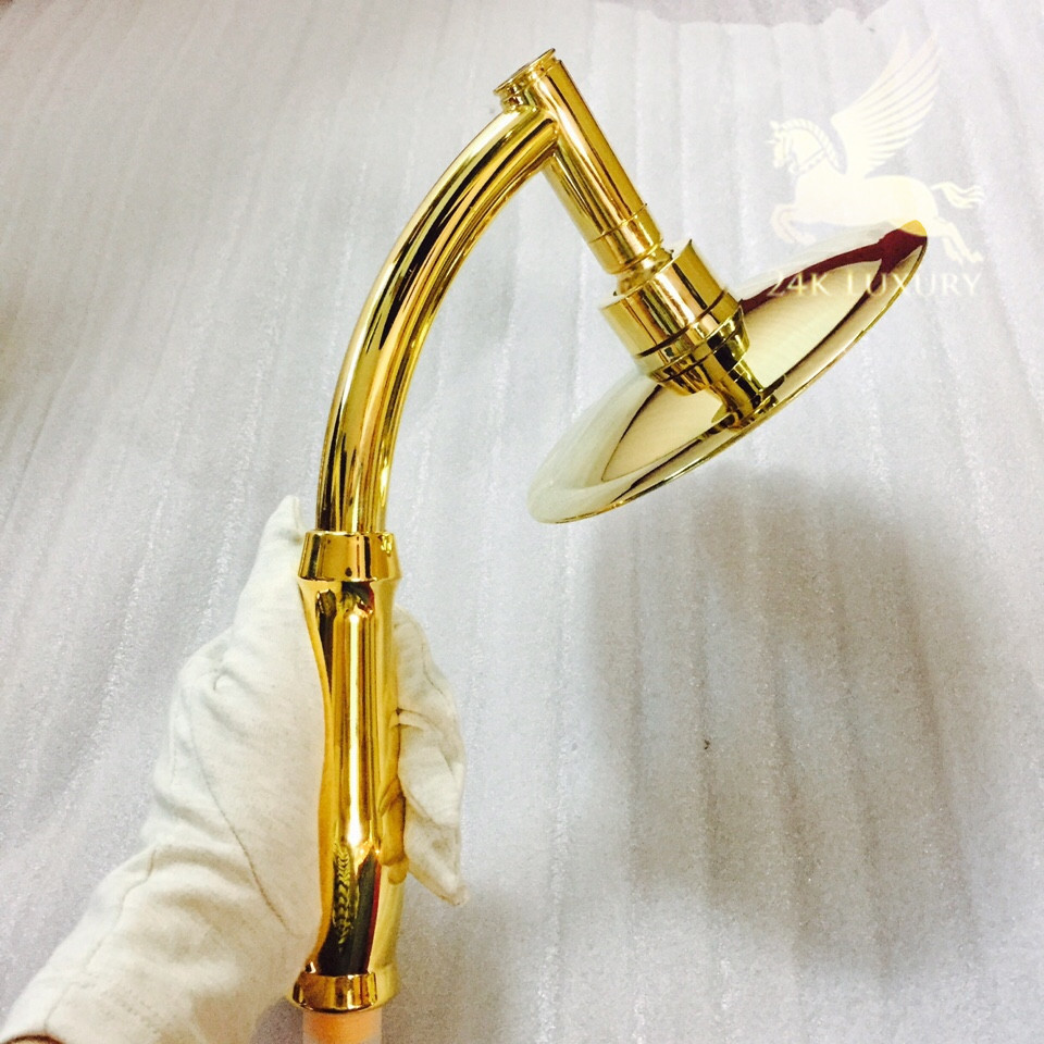 Bát sen mạ vàng 24k tại Vina Gold Art