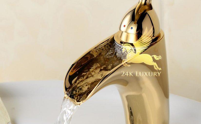 Vòi rửa mạ vàng 24k