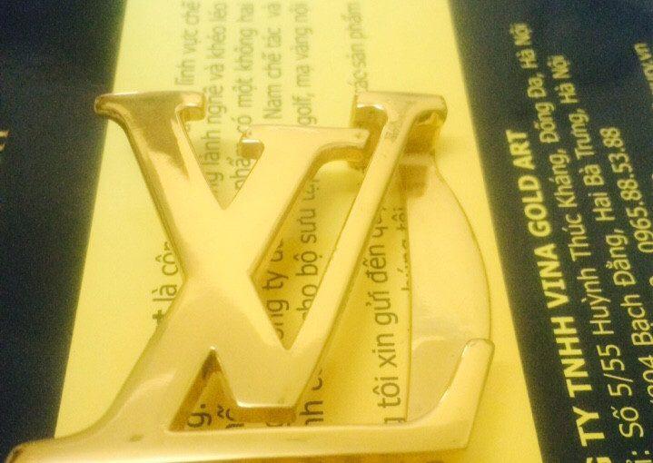 Dây lưng LV mạ vàng 24k tại Vina Gold Art