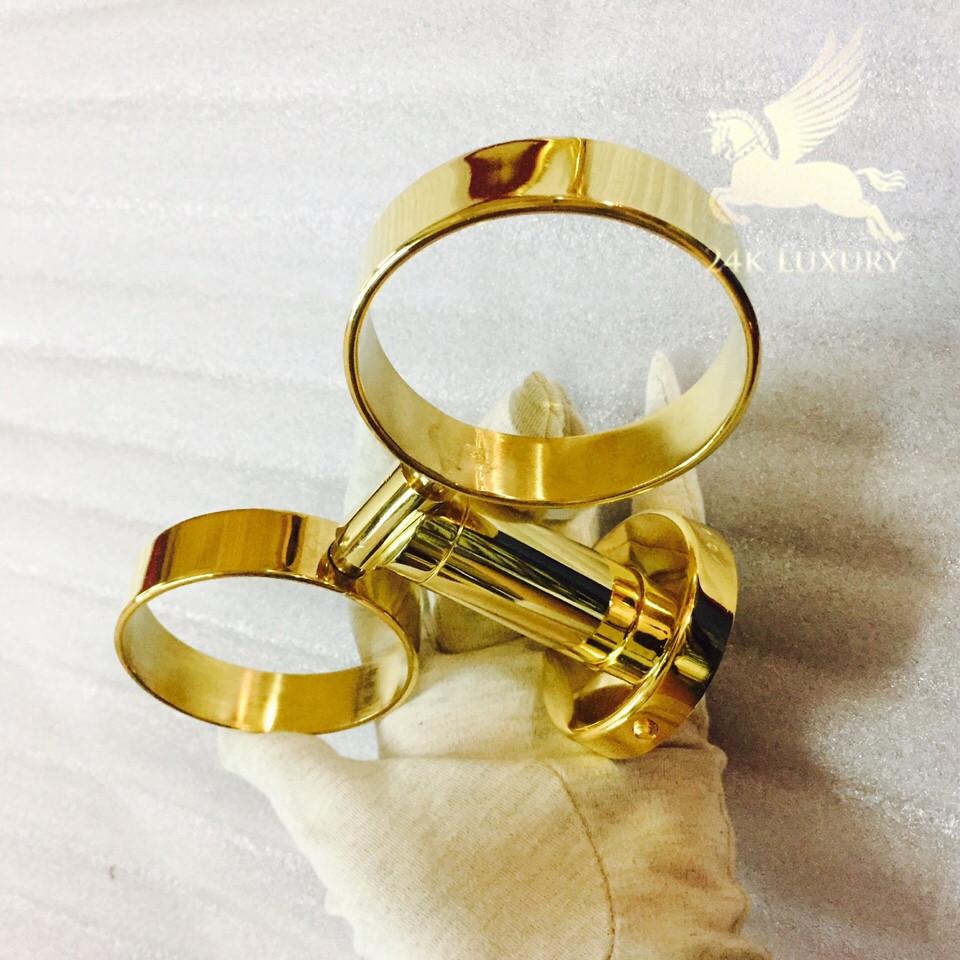 Kệ cốc đôi mạ vàng 24k