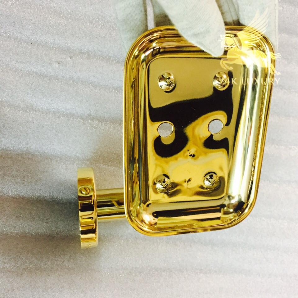 Kệ đựng xà phòng mạ vàng- sản phẩm có độ bóng, bền đẹp mắt