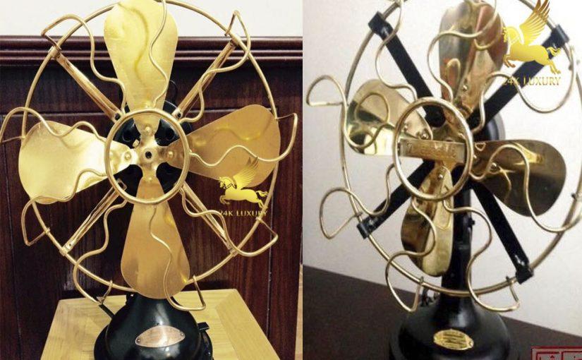 Quạt cơ mạ vàng- một sản phẩm quan trọng trong nội thất nhà ở của bạn