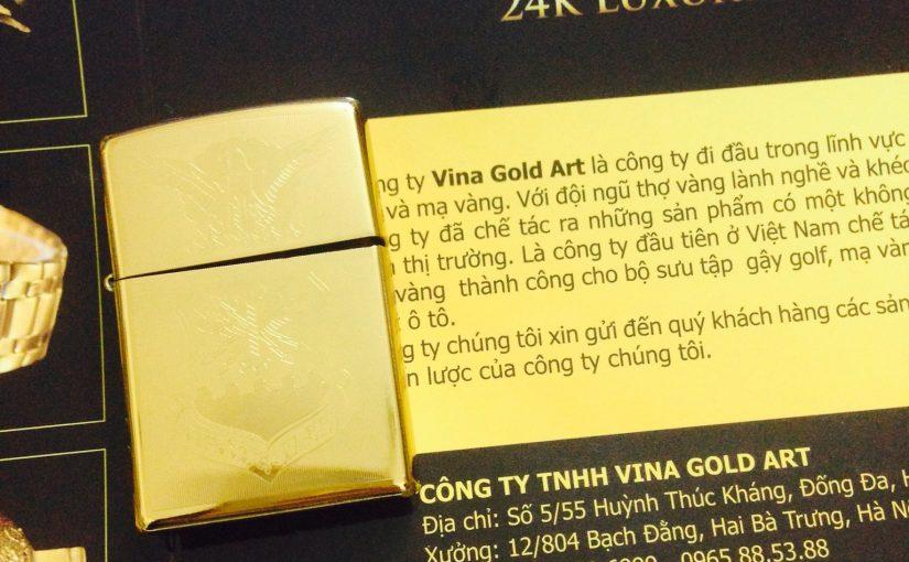Zippo mạ vàng sang trọng và cá tính
