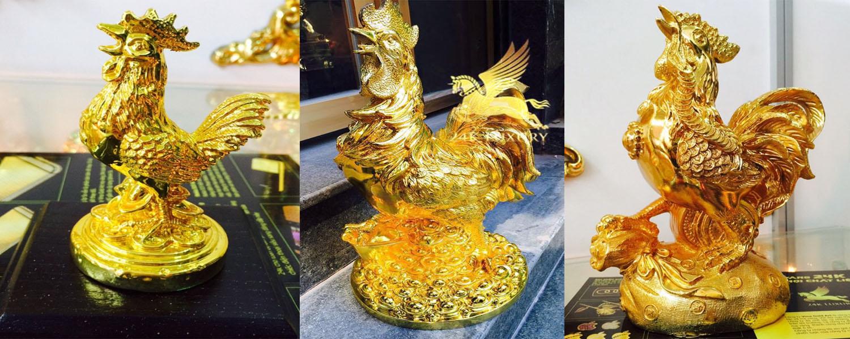 Tượng gà mạ vàng với nhiều ý nghĩa và giá trị độc đáo