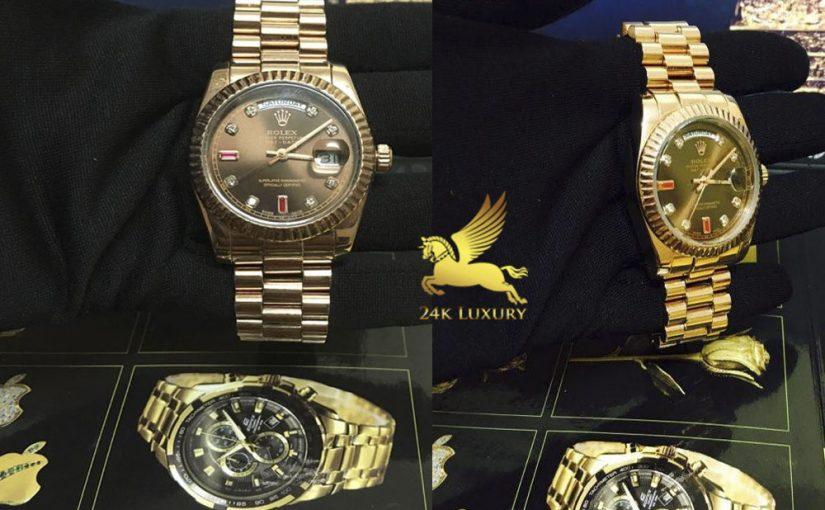 Đồng hồ Rolex mạ vàng- sản phẩm mang lại vẻ đẹp độc đáo, ấn tượng