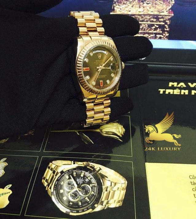 Đồng hồ thời trang Rolex mạ vàng- Sản phẩm thời trang của Vina Gold Art