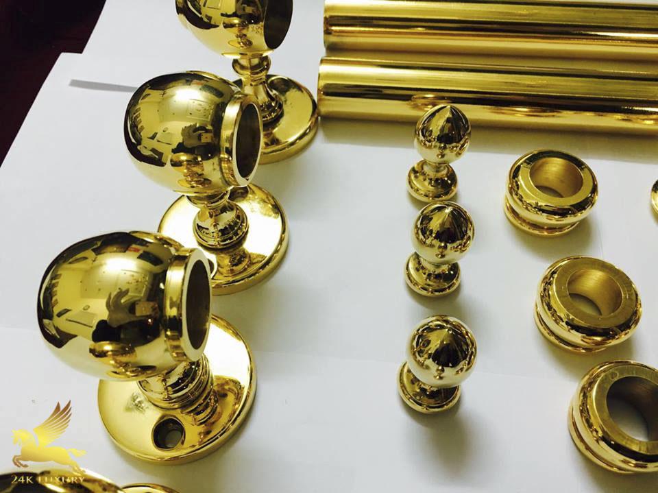 Khoá cửa tay nắm tròn mạ vàng là phụ kiện độc đáo cho ngôi nhà của bạn