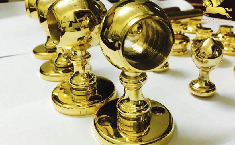 Bộ sản phẩm khoá cửa tay nắm tròn mạ vàng