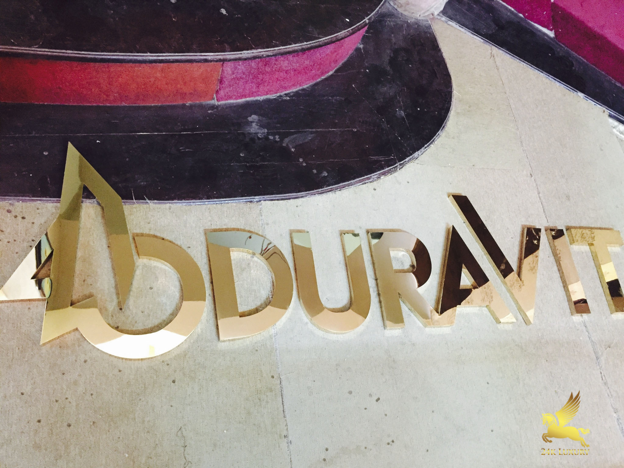 Bộ chữ Duravit germany mạ vàng 24k