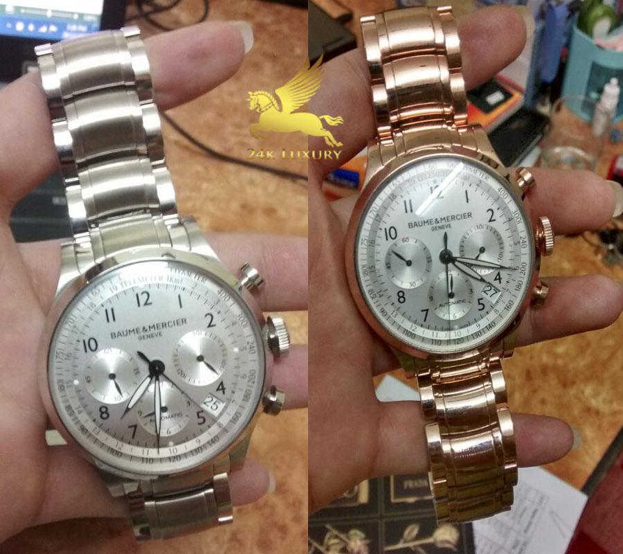 Chiếc đồng hồ Baume & Mercier Capland trước và sau khi mạ vàng hồng