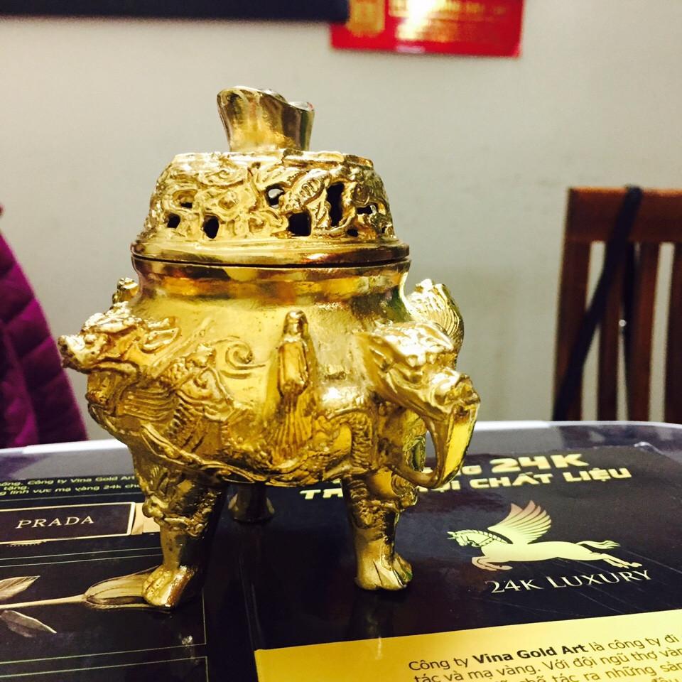 Lư đốt trầm hương- Vina Gold Art