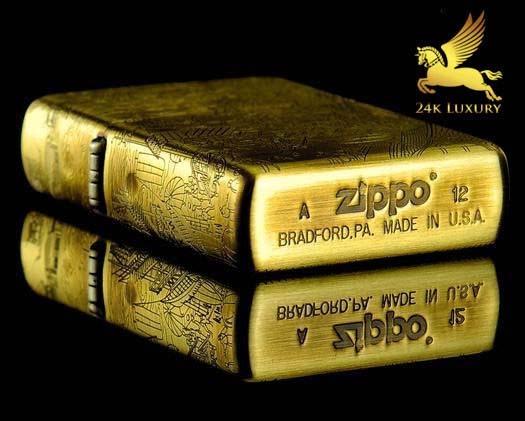 Zippo mạ vàng là biểu tượng hâm nóng tình yêu cho hai bạn