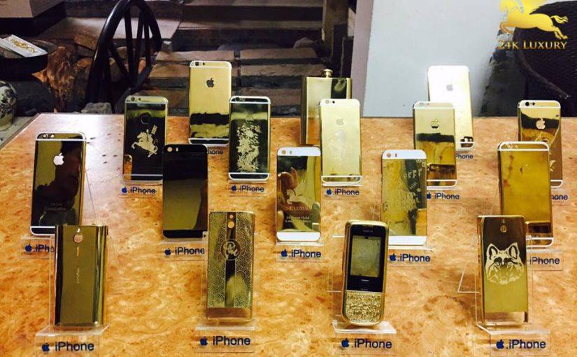 Ra mắt bộ sưu tập sản phẩm điện thoại mạ vàng nhân dịp ngày lễ đặc biệt